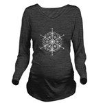 Winter Flake Long Sleeve Maternity T-Shirt