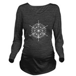 Another White Snowflake Long Sleeve Maternity T-Sh