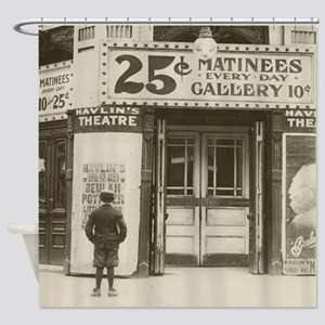 Havlins Theatre, 1910 Shower Curtain