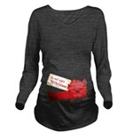 Do Not Open Til Christmas Long Sleeve Maternity T-