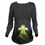 Green Little Angel Inside Long Sleeve Maternity T-