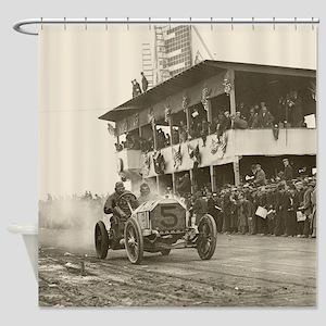 Vanderbilt Cup Auto Race, 1908 Shower Curtain
