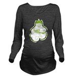 Green Bumps 1st Santa Long Sleeve Maternity T-Shir