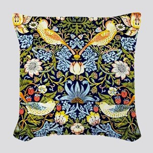 William Morris design - Strawb Woven Throw Pillow