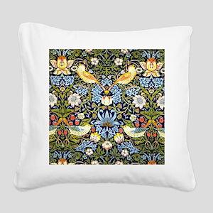 William Morris design - Straw Square Canvas Pillow