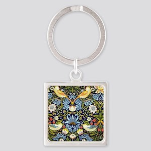 William Morris design - Strawberry Square Keychain