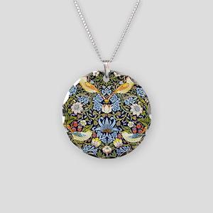 William Morris design - Stra Necklace Circle Charm