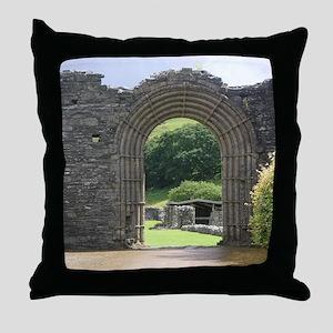 impressive gateway of stone,wales Throw Pillow