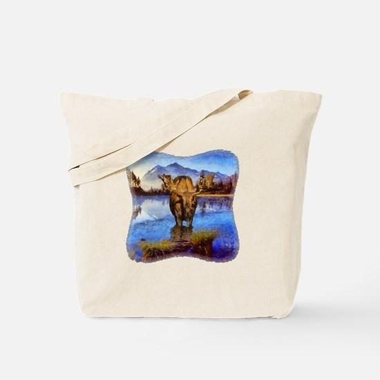 Mt Shuksan Moose Tote Bag