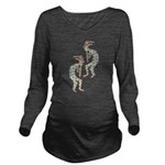 American Indian Kokopelli Long Sleeve Maternity T-
