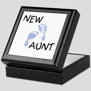 New Aunt (blue) Keepsake Box