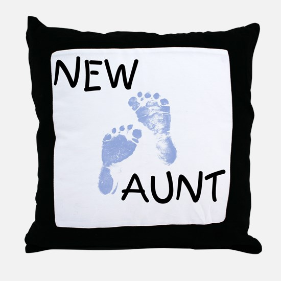 New Aunt (blue) Throw Pillow