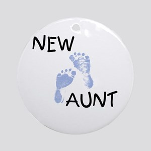 New Aunt (blue) Ornament (Round)