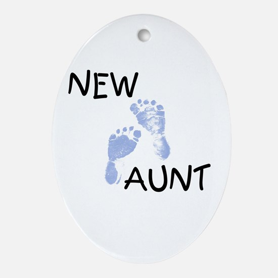 New Aunt (blue) Oval Ornament