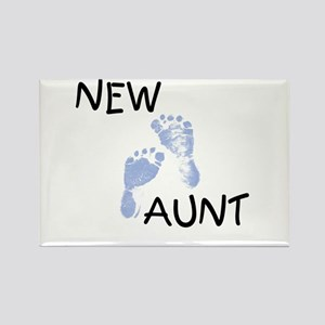 New Aunt (blue) Rectangle Magnet