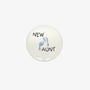 New Aunt (blue) Mini Button