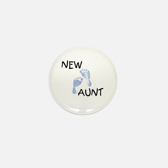 New Aunt (blue) Mini Button