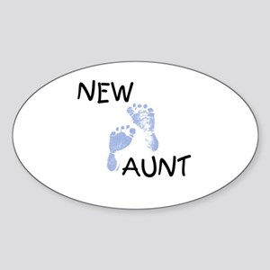 New Aunt (blue) Oval Sticker