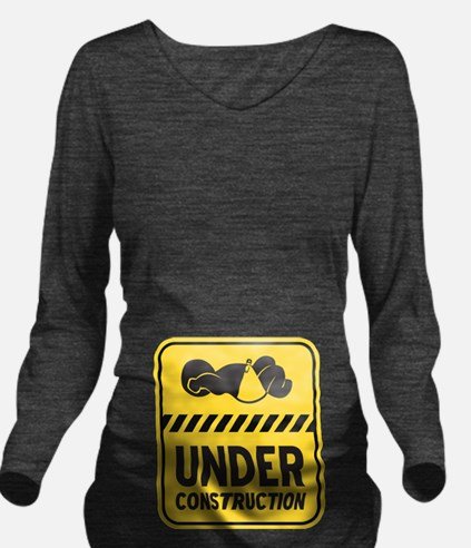 Under Construction Baby Yellow Long Sleeve Materni