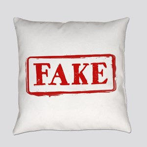 FAKE Stamp: Funny Graphic Everyday Pillow