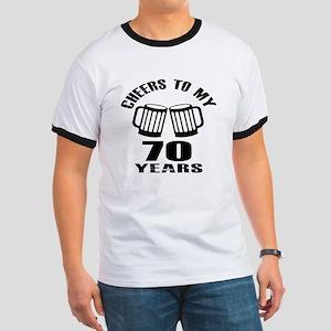 Cheers To My 70 Years Birthday Ringer T