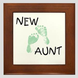 New Aunt (green) Framed Tile