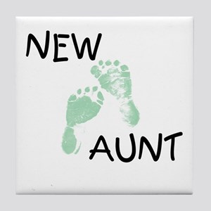 New Aunt (green) Tile Coaster
