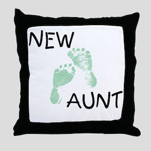 New Aunt (green) Throw Pillow