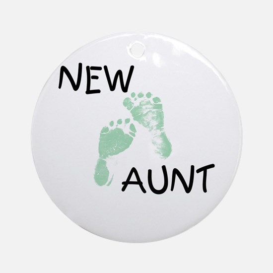 New Aunt (green) Ornament (Round)