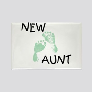 New Aunt (green) Rectangle Magnet
