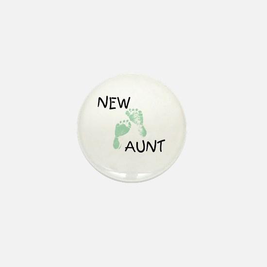 New Aunt (green) Mini Button