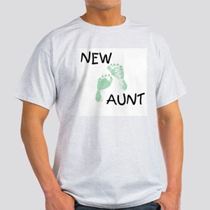 New Aunt (green) Ash Grey T-Shirt