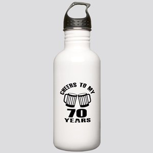 Cheers To My 70 Years Stainless Water Bottle 1.0L