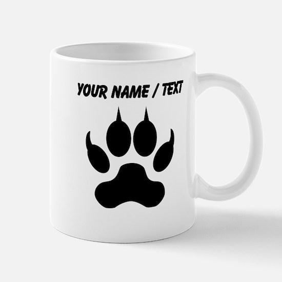 Custom Wolf Paw Print Mugs