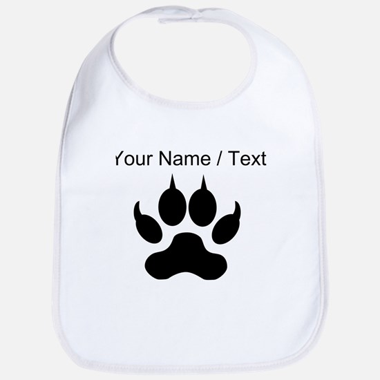Custom Wolf Paw Print Bib