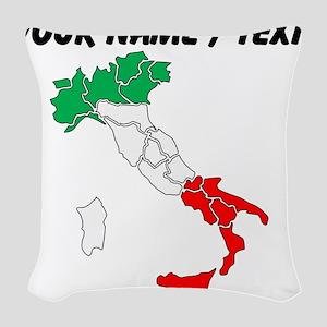 Custom Italy Woven Throw Pillow