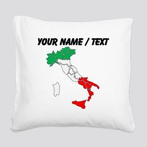 Custom Italy Square Canvas Pillow