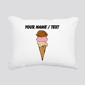 Custom Ice Cream Cone Rectangular Canvas Pillow