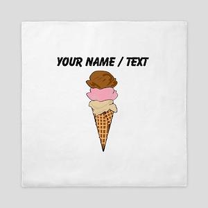 Custom Ice Cream Cone Queen Duvet