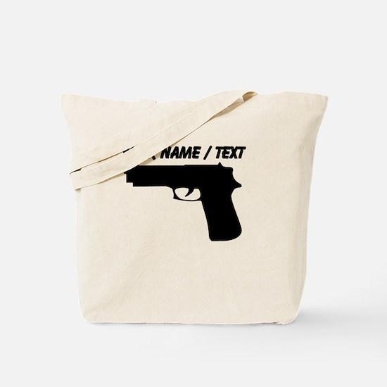 Custom Gun Silhouette Tote Bag