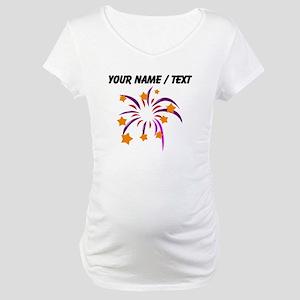Custom Fireworks Maternity T-Shirt