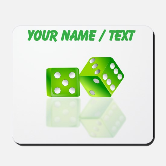 Custom Green Dice Mousepad
