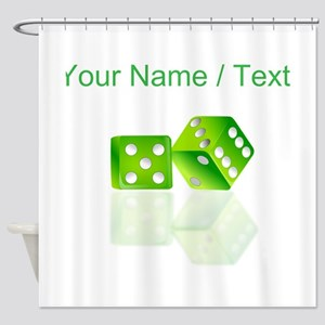 Custom Green Dice Shower Curtain