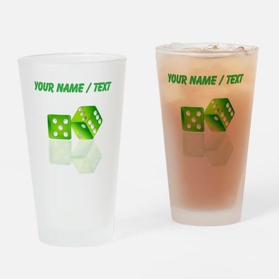 Custom Green Dice Drinking Glass