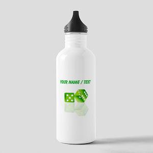 Custom Green Dice Water Bottle