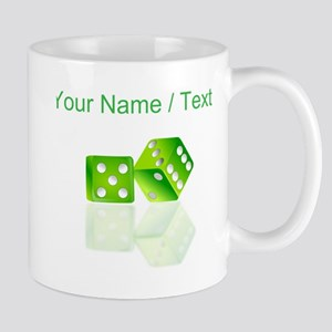 Custom Green Dice Mugs