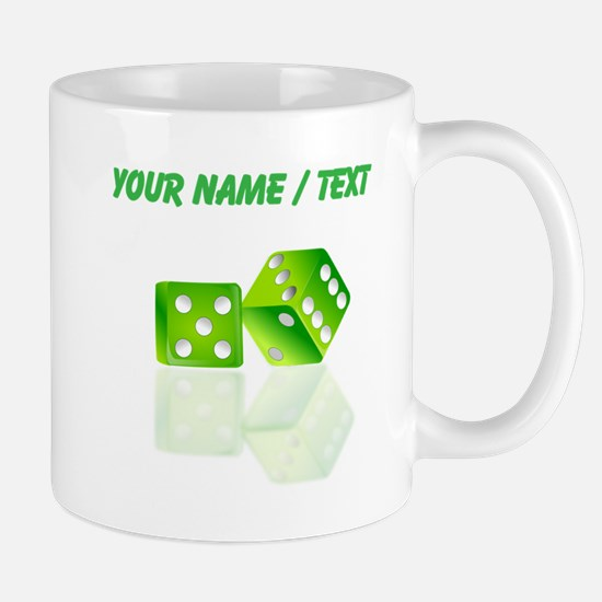 Custom Green Dice Mugs