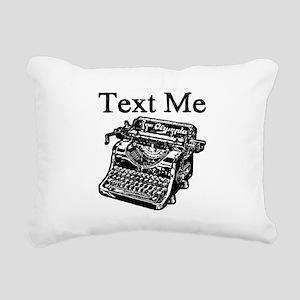 Text Me-Typewriter-1 Rectangular Canvas Pillow