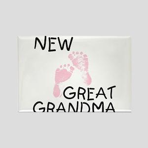 New Great Grandma (pink) Rectangle Magnet