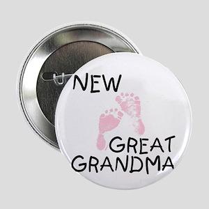 New Great Grandma (pink) Button